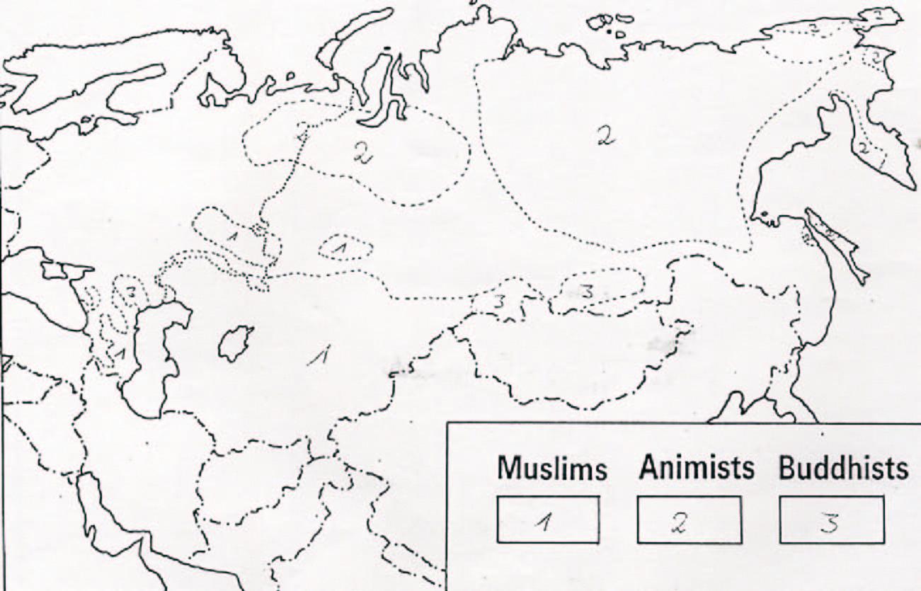 World Prayer And Mission Resources - Muslim world map blank